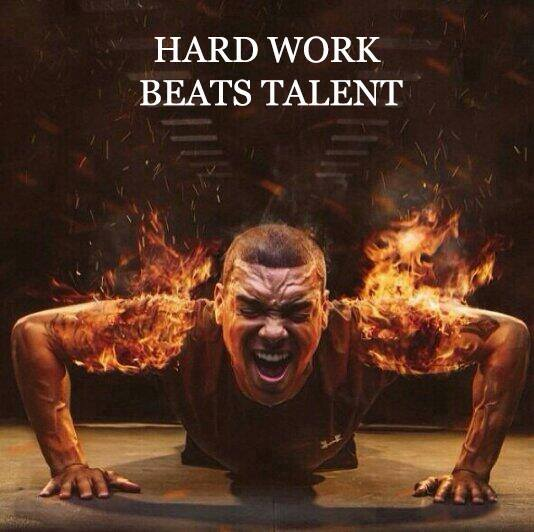 hard work vs talent